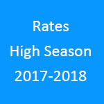 Rates hight Season 2017-2018 - Villa Belle Ombre Guest House in Cape Town South Africa